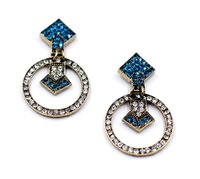 2014 New Arrival Free shipping  vintage rhinestones stud Earring for lady jewelry Factory Price