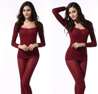 Ultrathin 2014 Tight Slimming Thermo Underwear Set Women's Body Shaper O-Neck Wave Edge Long Johns Thermal Underwear HL01
