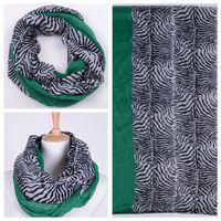 10pcs Fashion Winter Zebra Grain Paris yarn scarf Pure Stitching Bib scarf