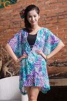 Free shipping womens chiffon coat fashion lady top lady summer wear chiffon coat transparent chiffon jacket