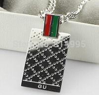 rose/silver titanium steel fashion necklaces/50cm