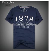 Free shipping 4 colors M- XXXL 2014 new brand men plus size cotton T-shirt logo print short sleeves D*S*L T-shirt MKT140011