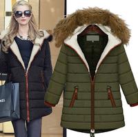 WWY69 2014 New Winter Coat Fashion Plus Thick Velvet Hooded Jacket Nagymaros Collar Long Sections Slim Padded Jacket