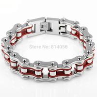 European and American men titanium steel men's bracelet genuine bike bicycle chain retail new stainless steel