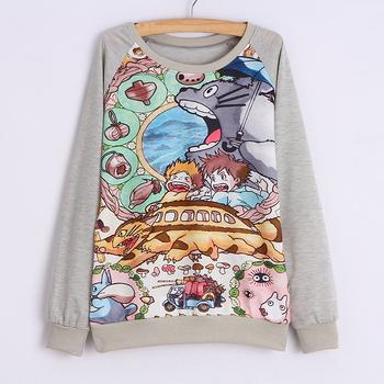 12 Цвет 2015 winter Женщины hoody Длинный Рукав Animal print sweatshirt hoodie sweatshirt ...