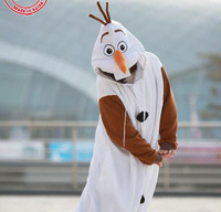 Fleece Anime Snowman Cosplay Costume One Piece Pajamas Hooded Sleepwear Winter Dress Anime Onesie for Adult
