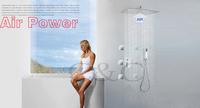 Wall Mounted Rainfall Bathroom Shower Faucet Set Air Drop Ultra-thin Rain Shower Head UFO Design