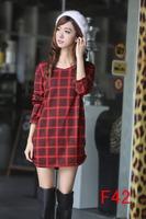 Free Shipping 2014 women autumn winter warm printing dresses thin plus size dress wholesale vestidos M L XL XXL 3XL 4XL 5XL 6xl