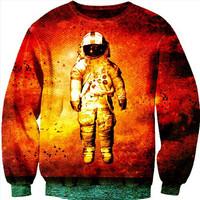 2014 New women's hoodies o neck long sleeve Space pilot/ Rose skeleton printing 3d sweatshirts women fashion sweatshirt 19models