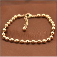 Gurantee100% Fashion Brand 316L Titanium Steel rose gold beads balance charm brand designer Bracelets, BR278