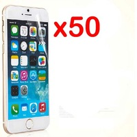 100pcs/lot (50 films+50 clothes) New CLEAR LCD Screen Protector Film For APPLE iphone 6+ iphone 6 plus iphone6+ iphone6 plus