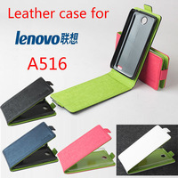 High Quality  New Original Lenovo A516 Leather Case Flip Cover for A 516 Case Phone Cover 4 Colors  Free Shipping