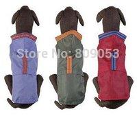 Hot models! large dog clothes big dogs nylon rainsuit double layers hoodie raincoat 3colours free shipping