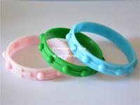 Punk Rock & Hip Hop Street Style Wristband, Silicon Bracelet with Cross Logo, Popular Jewelry, 50pcs/Lot, Free Shipping