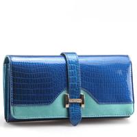 luxury patent leather women wallets long genuine leather wallet purse ladies designer carteira clutch