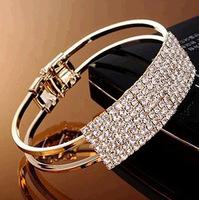 Min.Order $8.8(Mix Order) New 2014 Popular Bridal Bangles Jewelry Wide Starry Crystal Rhinestone Women Fashion Bracelets FB0111