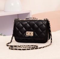 2015 HOT Sale! Women's handbag vintage Quilted chain bag fashion one shoulder small bag PU Leather bags women messenger bag