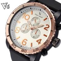 Men Sport Watch Quartz Movement Silicone Strap Analog Display Military Waterproof Wristwatches Rose Gold Relogio Masculino 2014