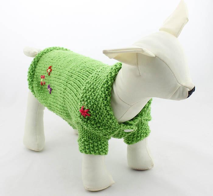 Su ter del perro hecho a mano tejer su teres perro ropa for Ahuyentar perros del jardin