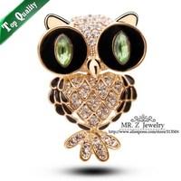 Fashion Cute Scarf Clip Rhinestone Brooches Owl Brooch Animal Jewelry 5pcs/lot Free Shipping
