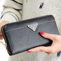 2015 genuine leather wallet designer cowhide women wallets purse fashion carteira ladies clutch bags