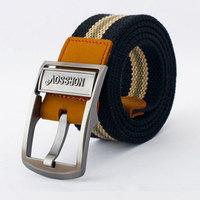 Mens Canvas Belt Cintos Cummerbund Buckle Waist Strap Belts For Men PK459