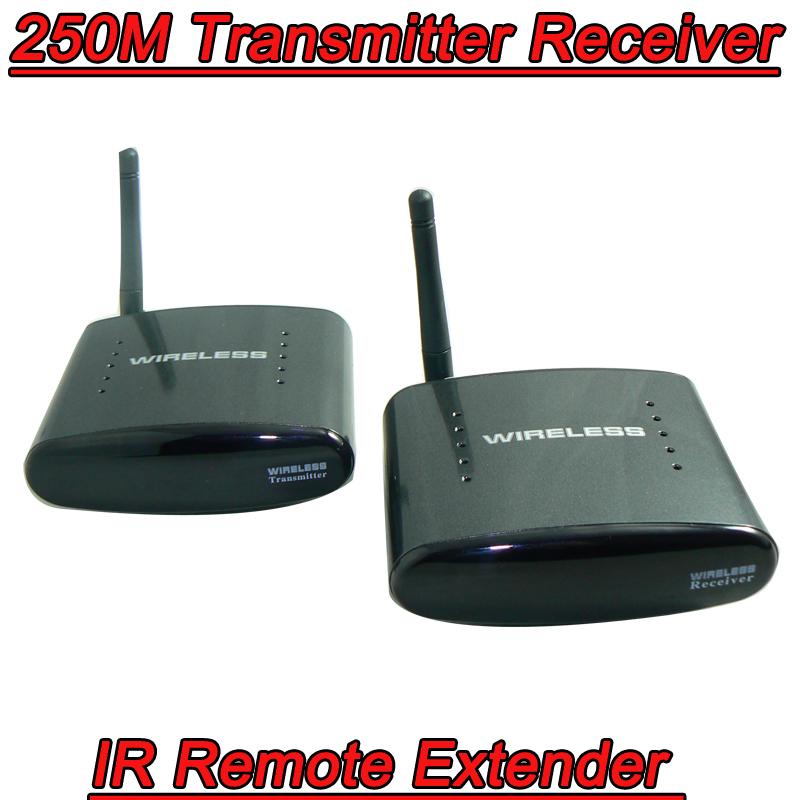 250M 2.4G Wireless AV Sender TV Audio Video Infrared Transmitter Receiver IR Remote Extender extensor de av wireless tv antenna(China (Mainland))