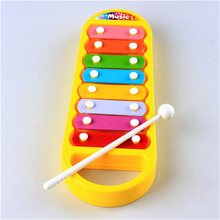 Cute 8-Note Xylophone Kid Musical Instrument Preschool Toddler Toy Yellow(China (Mainland))