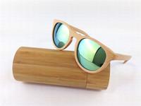 Wholesale Wood Sunglasses Women Vintage Wooden Cat Eye Glasses Polarized Revo Lens Oculos de sol Feminino BambooGlasses ESWD1002