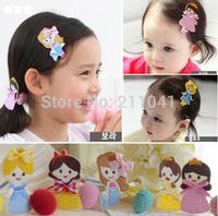 New ! 20pcs Princess children's hair barrette hair ring hair accessories sweet and cute suits girls hair rope