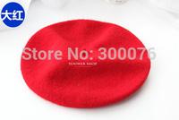 Women solid colour  Wool Winter Beanie Beret Hat