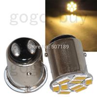 10pcs T25/S25 1157 BAY15D Warm White 9 5730 SMD LED Car Stop Tail Brake Light Bulb  for good price free shipping