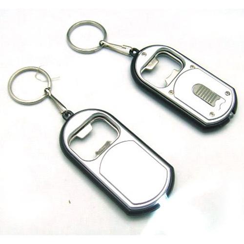 2-in-1 Mini Keychain White LED Small Flashlight Beer Bottle Opener Souvenir Keyring Multifunction Wholesale(China (Mainland))