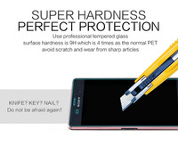 Free shipping NILLKIN Amazing H+ Nanometer 0.3mm 2.5D Anti-Explosion Tempered Glass Protector for Sony Xperia Z3 L55 Package