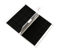 Siliver Aluminum Memory Card Holder Case for 24 TF micro sd card