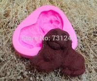 New Arrival!  Design 314  Dog Shape Silicone 3D Fondant  Mold, Soap Mold,Chocolate Mold,Cake Decoration Tool