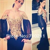 Custom Made V Neck Off the Shoulder vestidos Chiffon Long Mermaid Evening Dresses Gowns