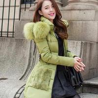 Nagymaros collar 2014 new women's winter Korean Slim woman in long down jacket coat long thick down clothing