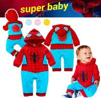 New 2014 Baby Boys Clothing Sets Cartoon Spiderman Boys Clothes Sets Conjunto Menino Baby Clothes Hoody Spring Autumn 2pcs Set