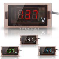 50PCS/LOT 12V-24V Car Digital Display Blue/Red/White/Green LED Voltmeter Gauge Panel Meter
