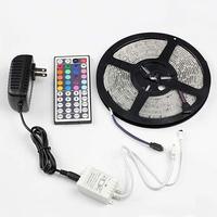 5M SMD RGB 3528 Waterproof Strip light 300 LED + 12V 2A power + 44 Key IR Remote