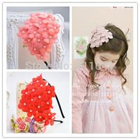 New Fashion Girls pearl flower Headband Hairband princess Headwear children girl party Hair accessories p5