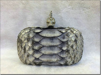 free shipping Luxury brand design Top quality snake skin clutch bags skull clutch handbags BLT0011