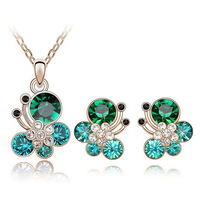 2014 Hot Sale Fashion Snail  Necklace/Earrings Wedding Accessories Jewelry Sets For Women,TZ-1090