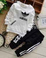 Wholesale 4pcs/lot baby boys/girls Sport suit set kids cotton tracksuit sets children outerwear clothing boys cloth set