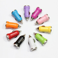 200pcs colorful 5V 1A Mini USB car charger for iPhone 4 5S 5C 6 Samsung Galaxy S3 S4 S5 HTC