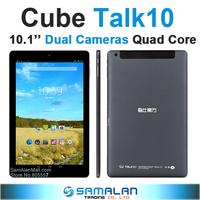 10.1'' Cube Talk10 U31gt 3G Tablet Cube talk 10 Android Tablet MTK8382 Quad Core 1280x800 Screen Dual Cameras OTG WCDMA