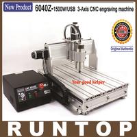 1500W Three Axis CNC Engraver Engraving  Machine CNC 6040 with USB Port