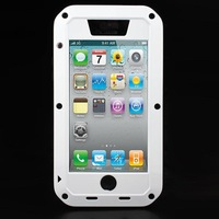Free shipping  Aluminum Metal Gorilla case Glass Waterproof Dropproof Dirtproof phone Case Cover for iPhone 5S 5