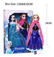 2PCS/lot Frozen Elsa plush Frozen Elsa and Anna Frozen dolls kids Girl Xmas Gift baby toys brinquedos meninas Elsa Anna bonecas